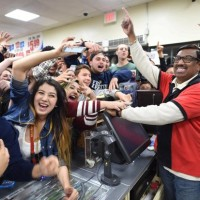 Party at shop selling lucky ticket in $1.6bn draw